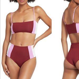 NEW L space Portia girl bikini bottoms L